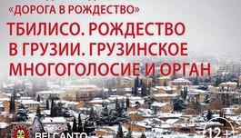 Тбилисо. Рождество в Грузии. Грузинское многоголосие и орган